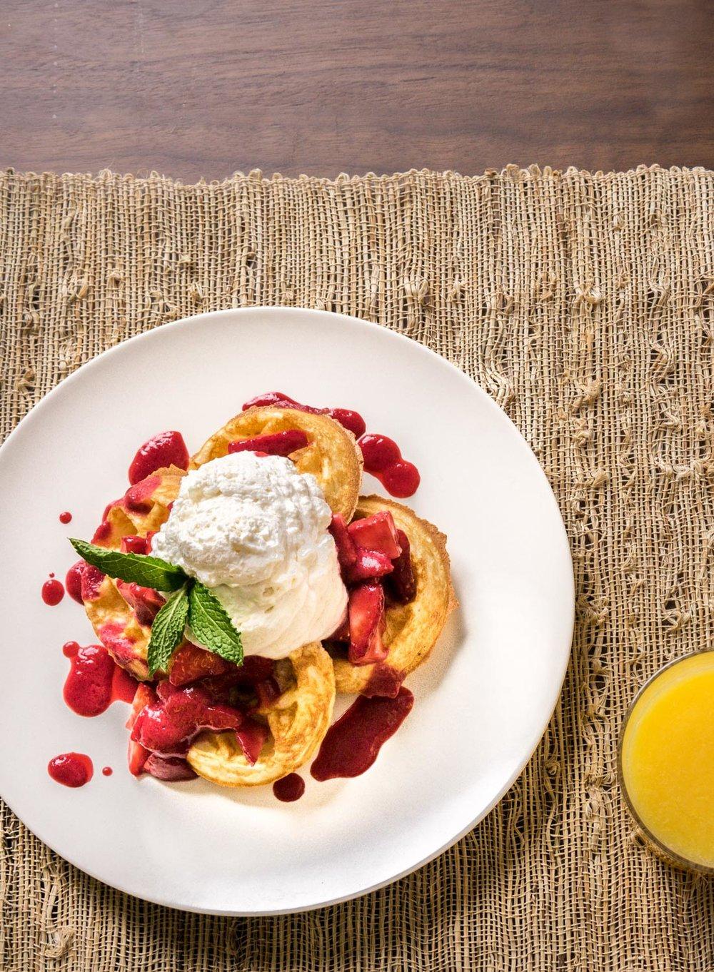 Breakfast Waffles at San Francisco's Hotel Fusion
