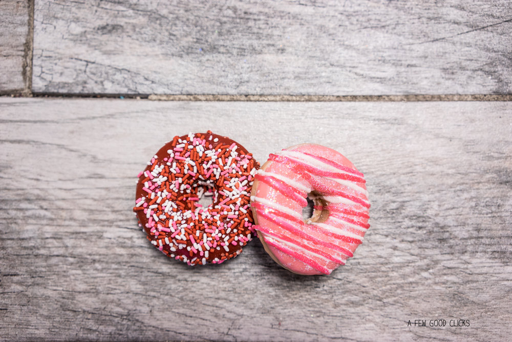 Valentine's special doughnut treats