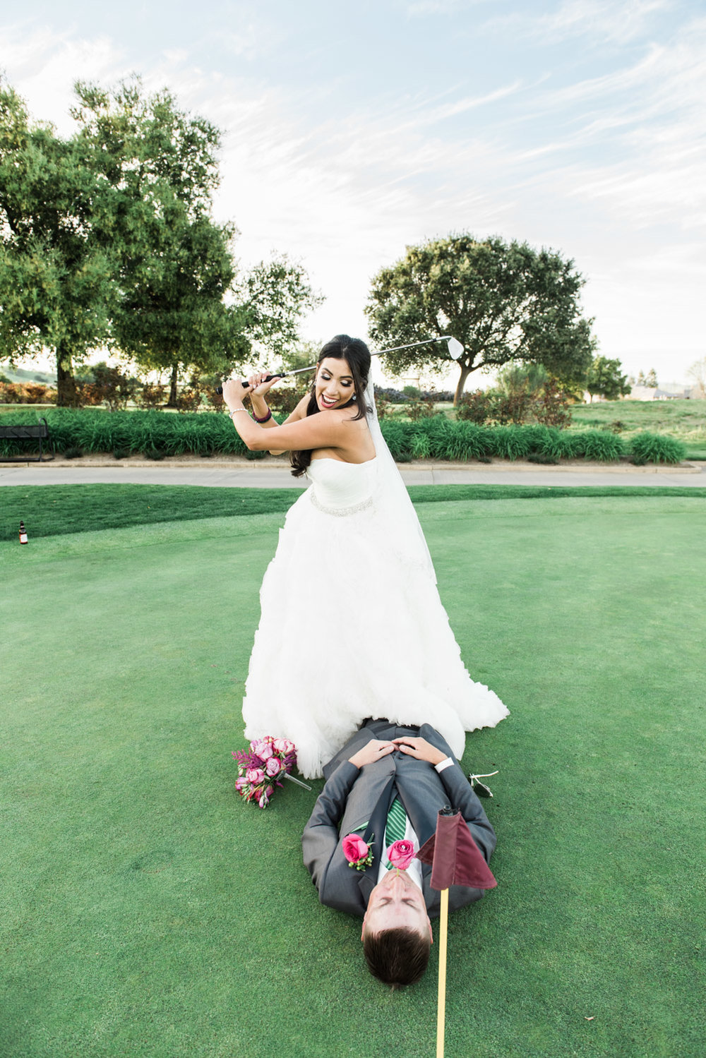 Bride & Groom at the Ruby Hill golf Course