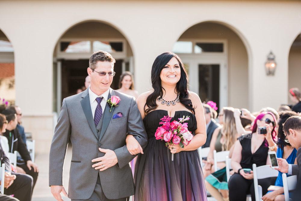 Bridesmaid & the Groomsman.