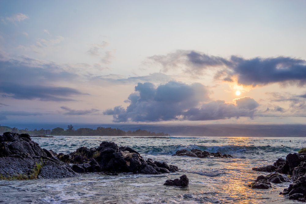 Sunset Spot for Photography - Richardson Beach Park on east of Hilo Bay located at 2279 Kalanianaole Ave, Hilo, HI 96720
