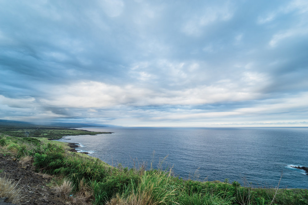 Ocean View from Naalehu – This is somewhere en route on Hawaii Hwy 11 after you cross the Oceanview towards Hilo.