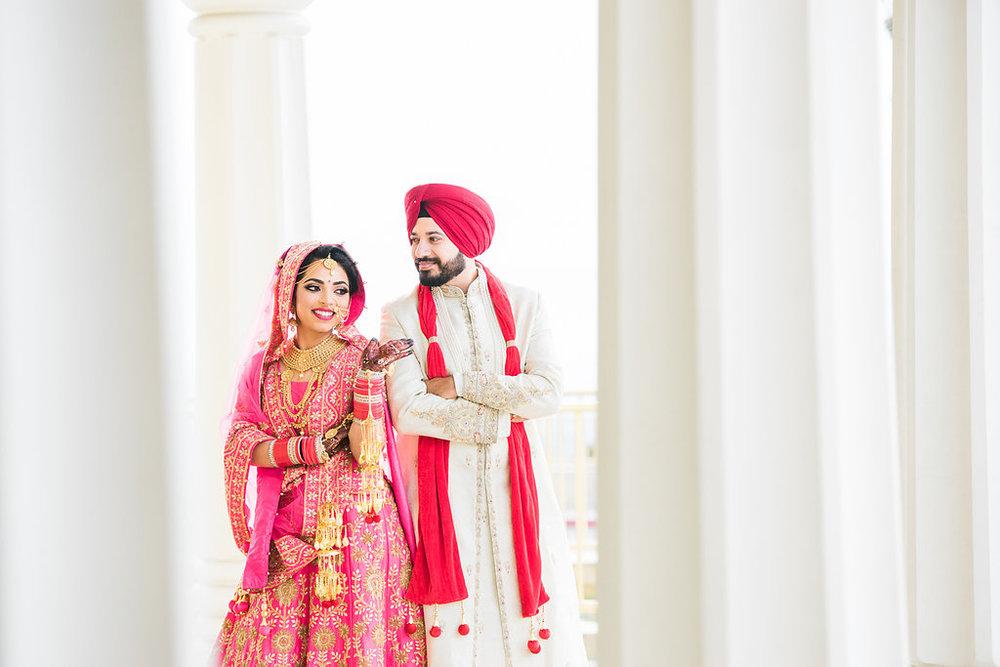 Lifestyle Sikh Wedding | Couple portraits
