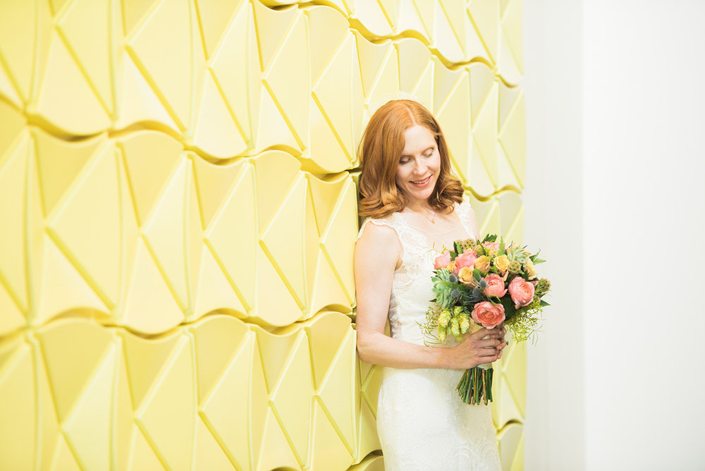Against the yellow wall at the Rosewood hotel provided the most suited backdrop for my style of photography - light and airy.