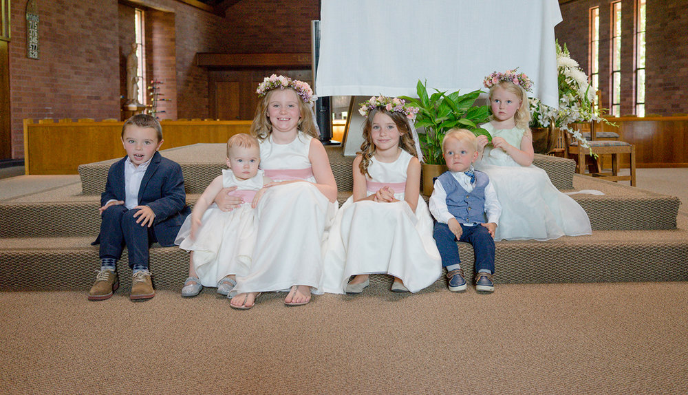 Meet the kids of this intimate wedding party.