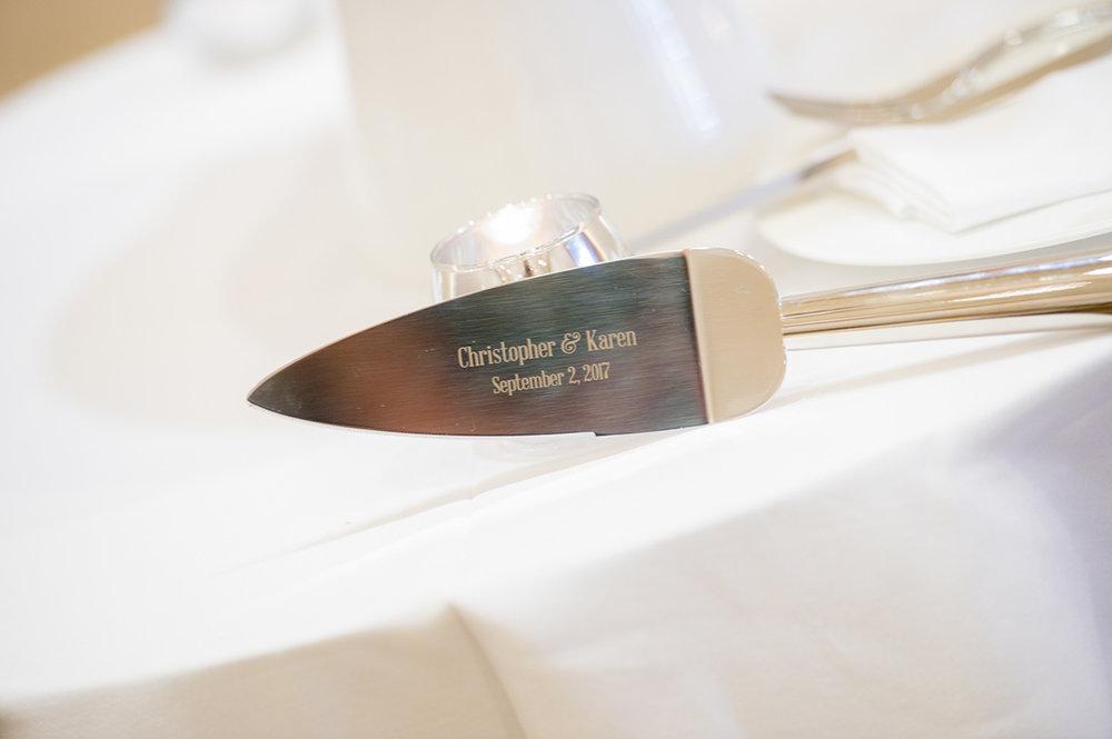 Wedding cutlery.