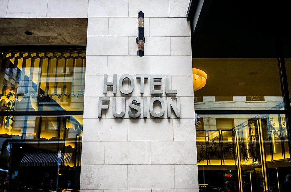 Hotel Fusion Front facade.