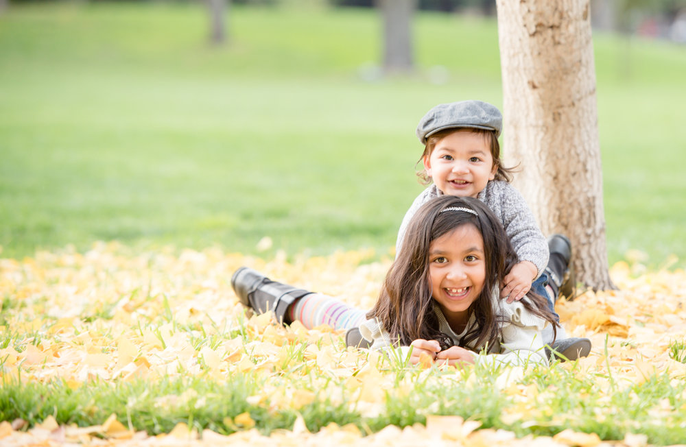 Growing Sibling Photo | Fall Family Shoot