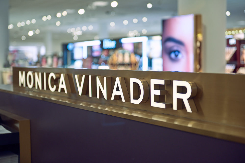 Logo and brand photo of Nordstroms new jewellery partner - Monica Vinader.