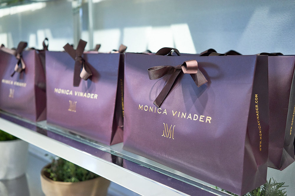 Monica Vinader's gift bags.