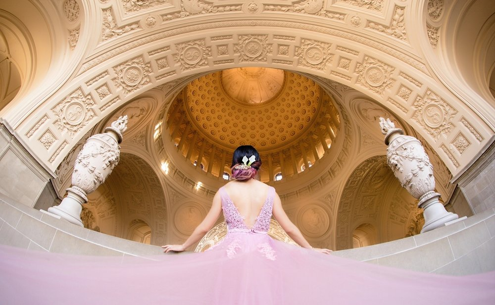 Creative Bridal Shoot at Sf City Hall