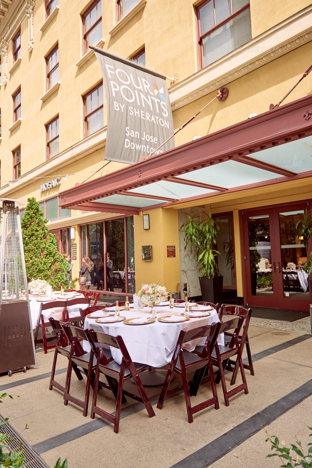Looking for a birthday party venue? Mosaic Restaurant & Bar offers an amazing patio surrounded with olive trees in the heart of downtown San Jose at Four Points Sheraton.