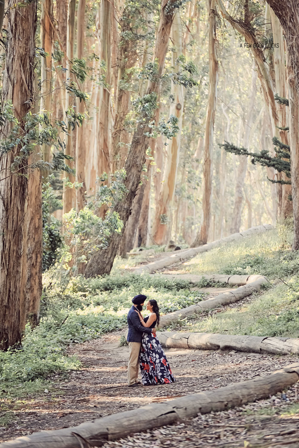 The zig zag wood logs in lover's lane forms an amazing pattern to incorporate in your forest inspired photo shoot.