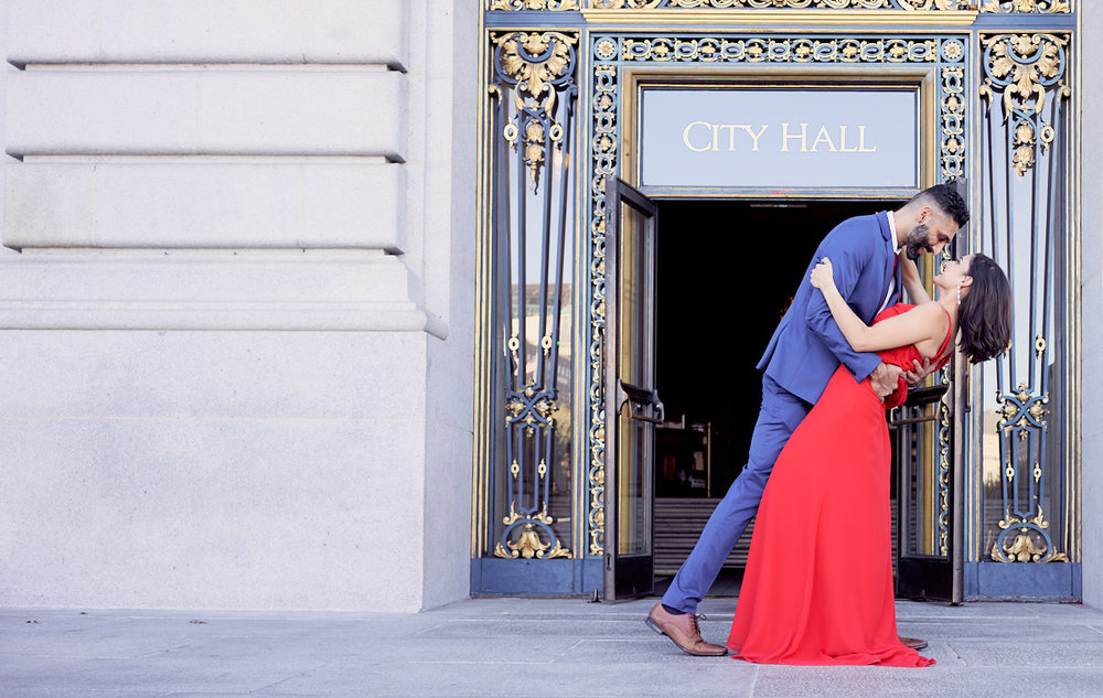 SFCity Hall - Destination Wedding Photographer