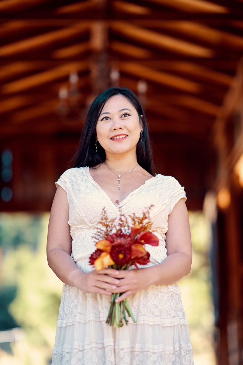 Bride Portrait at the altar | Saratoga Wedding Photographer