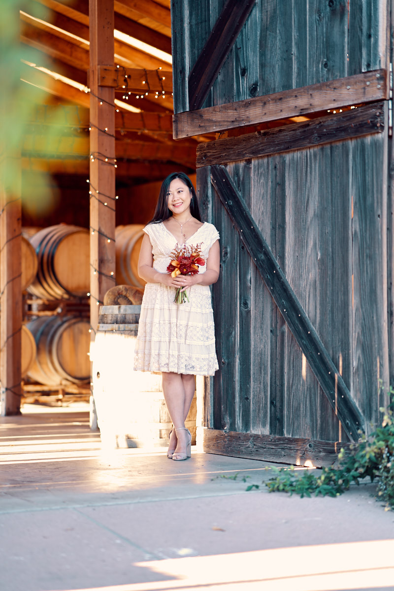 Saratoga's Redwood Ridge Estate & Vineyard | Bridal Photo by A Few good Clicks