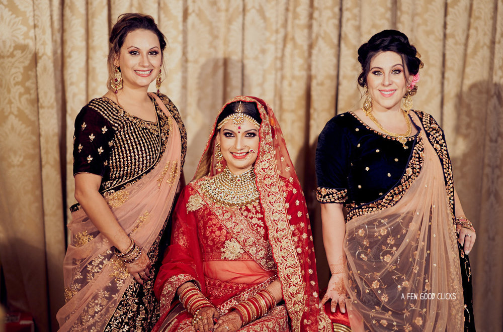 Bride with her sisters.