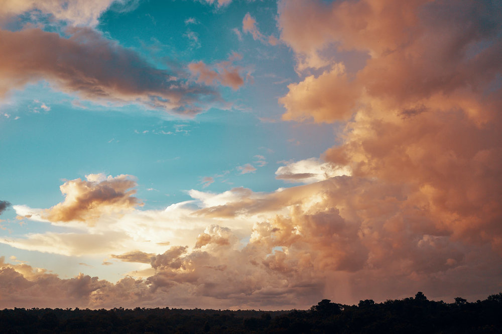 The cloud formation was surreal. I have never seen such beautiful colours in the sky.