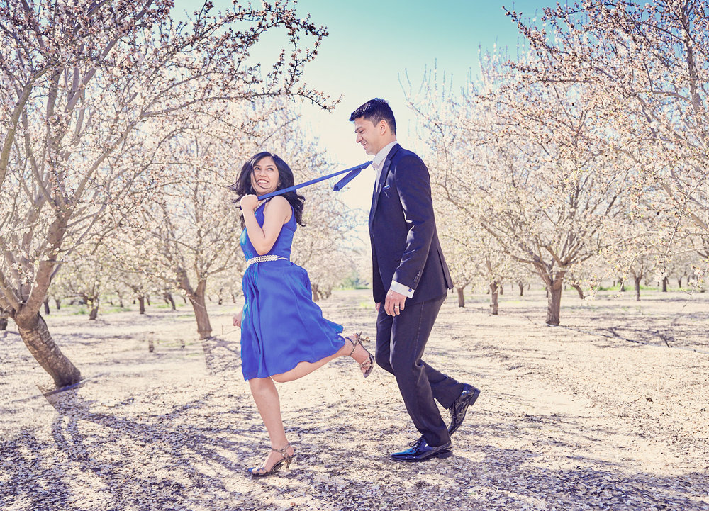 Go as cheesy as you like in your pre-wedding shoot.