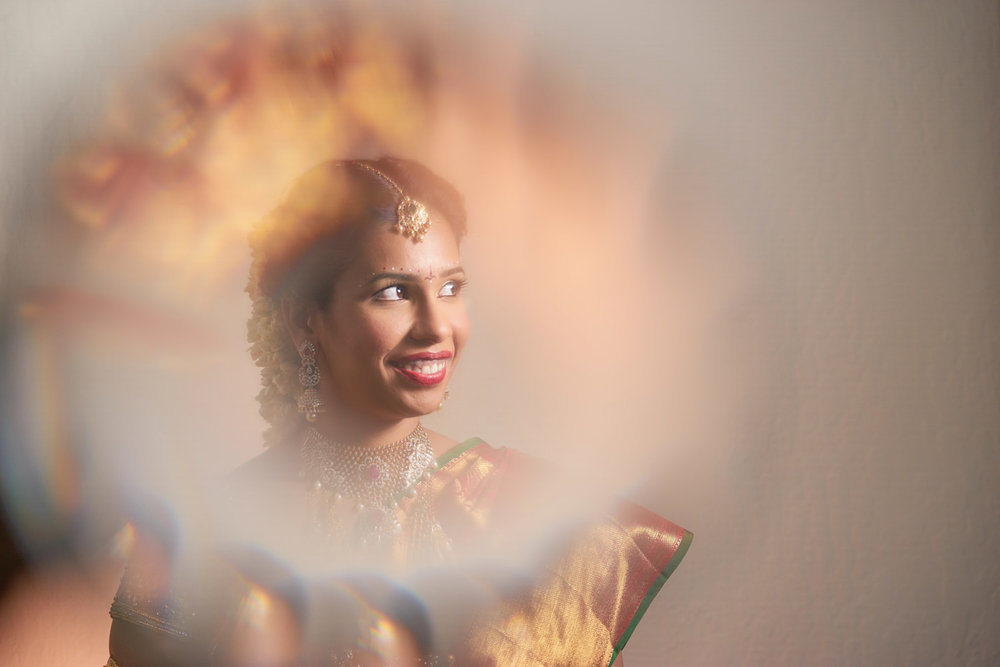 South Indian bride - Portrait Shot using fractal and magbox.