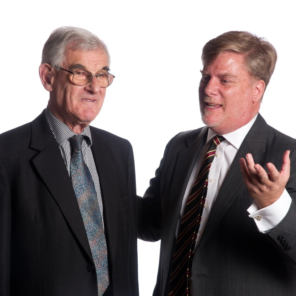 Roger Michel (right) with Prof. e.G. Stanley of Oxford University.   link to memorial tribute to eric stanley HEre   Photo credit: Mark Ashworth