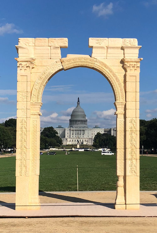 Arch Of Baal Erected In Dc The Day Before Brett Kavanaugh Testified