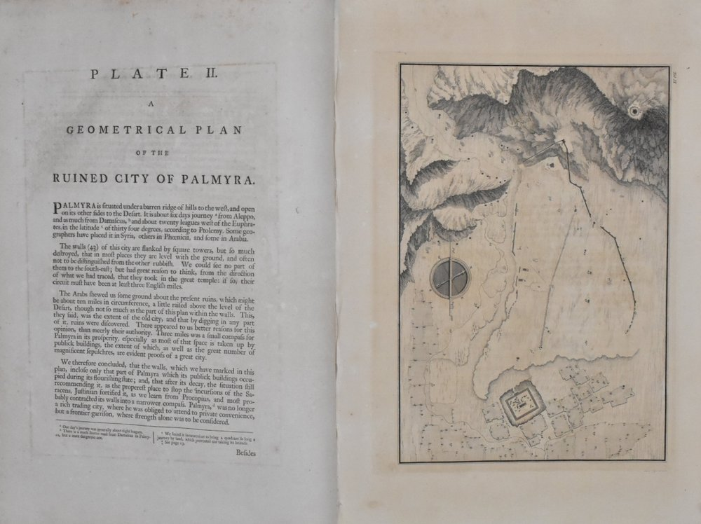 plate ii from robert wood and james dawkins' 'ruins of palmyra'
