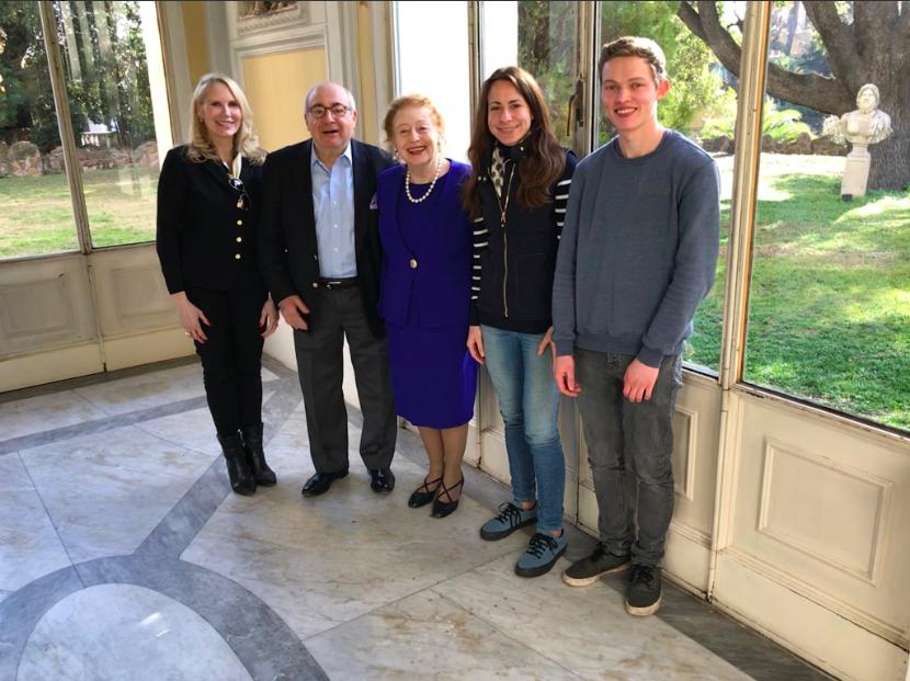 princess rita boncompagni ludovisa, princess elettra marconi, dr. alexy karenowska and her student finlay ryburn in rome