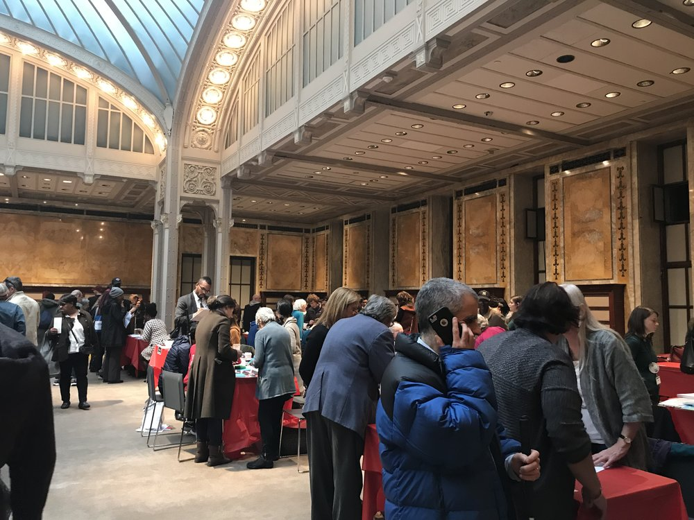 crowds at the new york public library accessible community, culture and technology fair, 2018