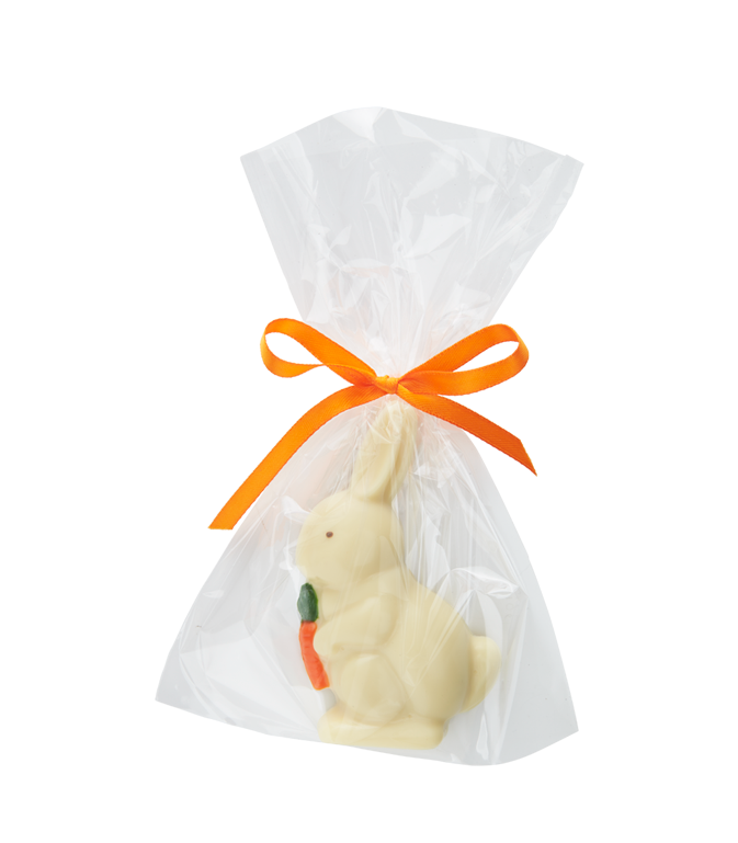 White Chocolate Raised Tablet Bunny