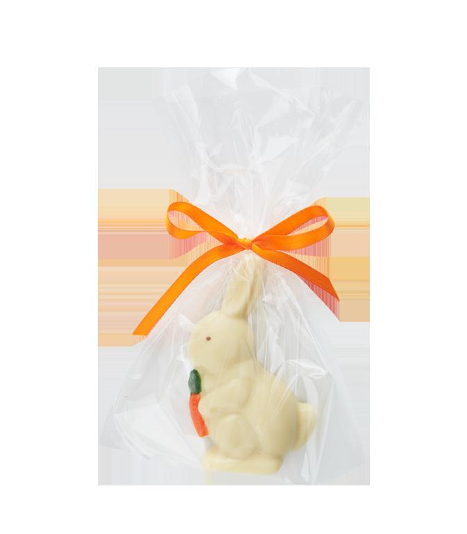 White Chocolate Raised Tablet Bunny