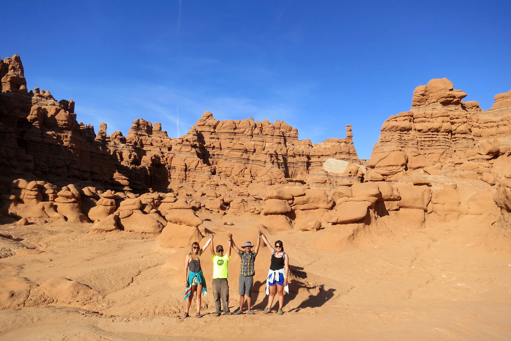 Frontier Fellows and Epicenter staff at Goblin Valley