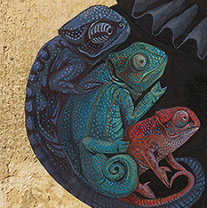 Miss Chameleon (detail)