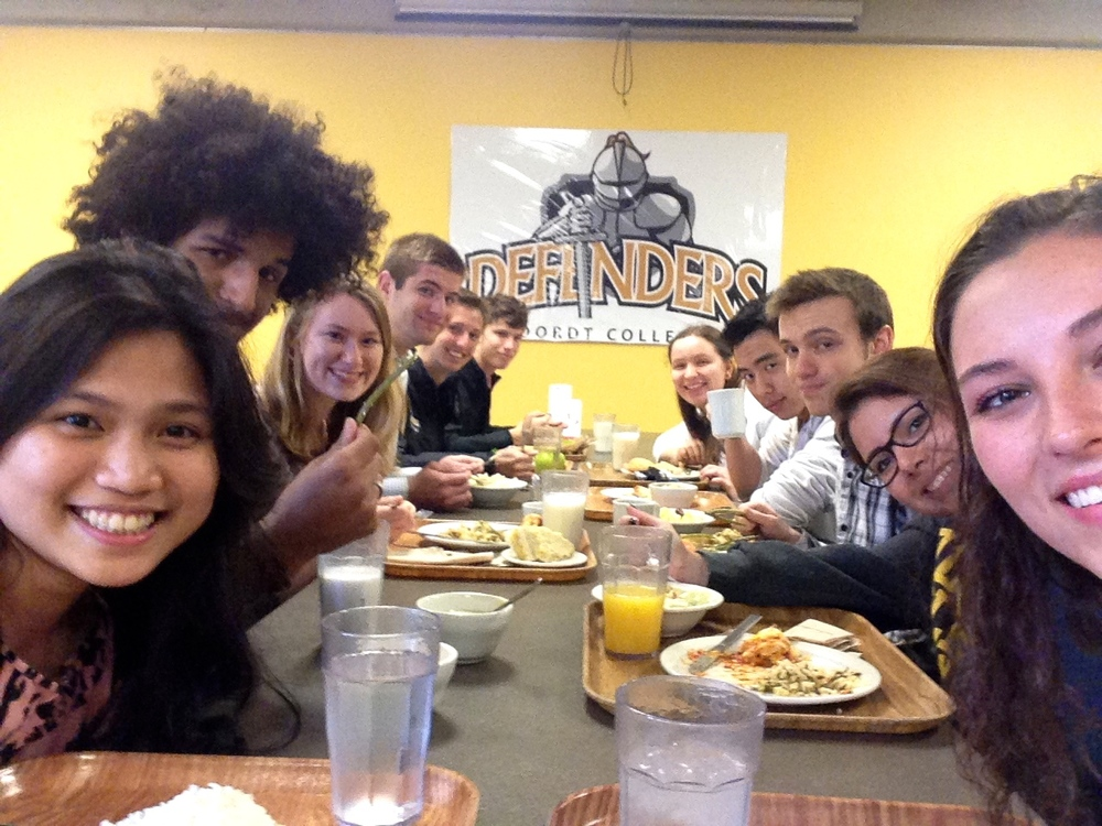 Here I am with some of my favorite friends, eating lunch together after Sunday morning church.