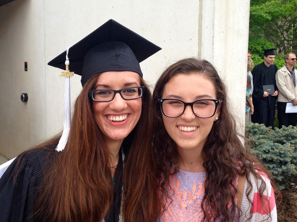 Jessica and I celebrate after graduation. It truly was a lovely ceremony, and I felt so blessed to be there!