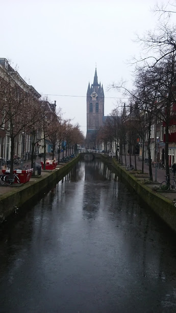 The Leaning Tower of Delft, second only to the one in Pizza.