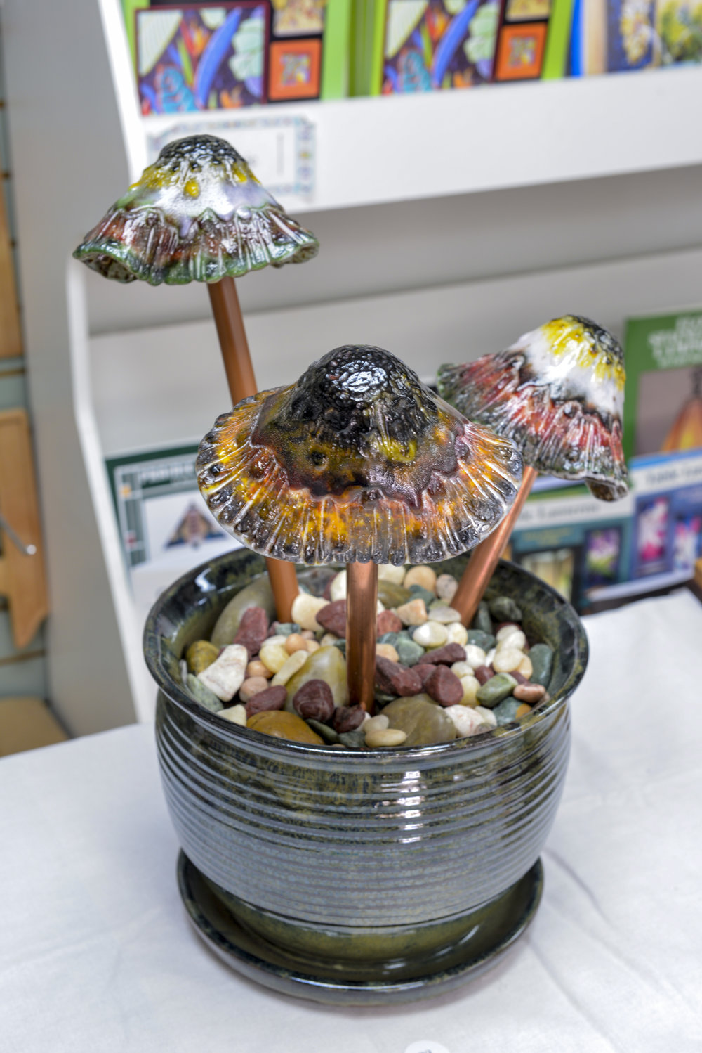 """Mushrooms in a Pot"" by Margie Adams"