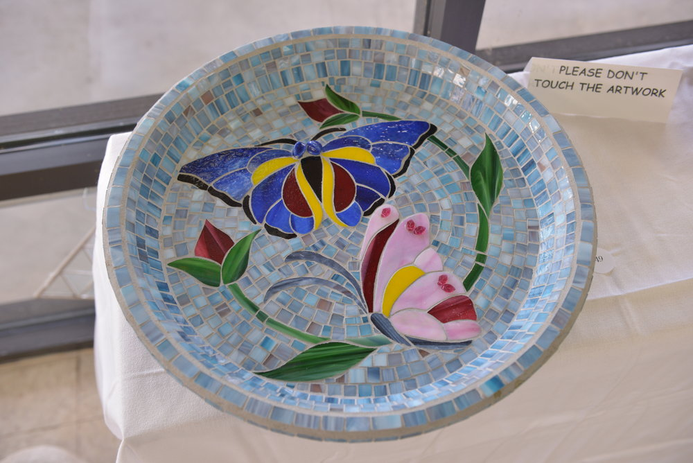 """Butterfly Birdbath"" by Andrea Turner"