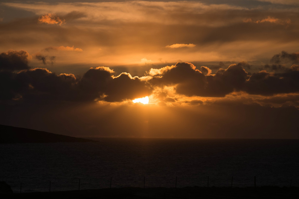 Sunset at dinner on South Harris.