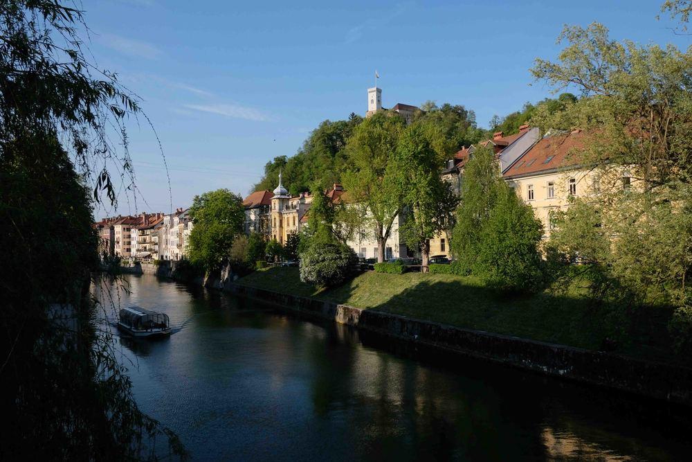 Riverside view in Ljubljana