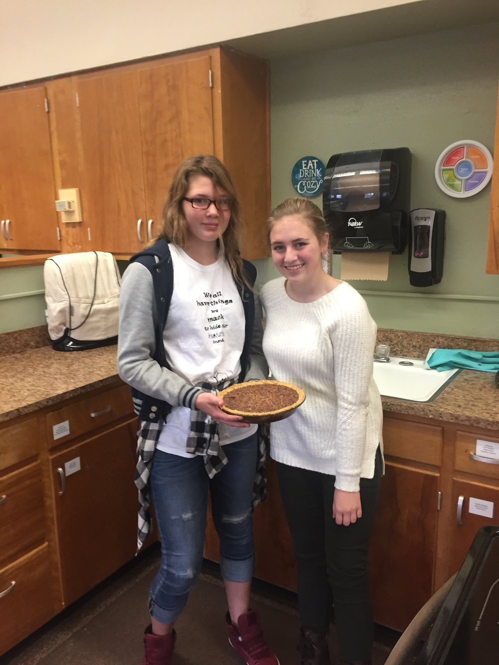 Kirsten Myers and Olivia Brown's creation, Pecan Pie!