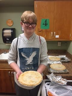 Bradyn Neubaum made an Apple Pie!