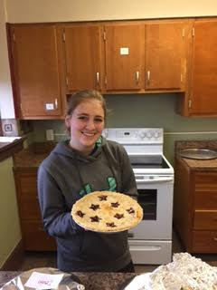 Olivia Brown made a Cherry Pie!