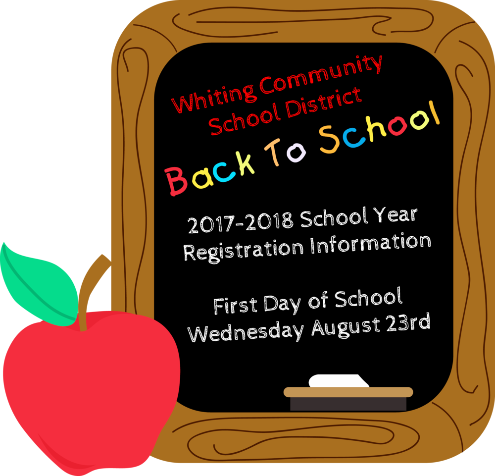 Click to view the registration  information for registering your child here at Whiting.