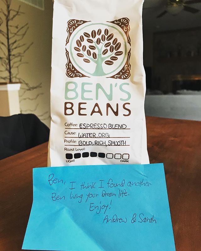 Shoutout to our listener Andrew for sending us this gift via mail. We can not wait to drink it!! Thanks for being a @Patreon supporter and supporting our show! #podcast #podcasts #podcasting #podfriend #coffee #bensbeans