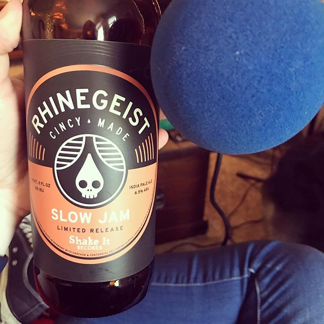 Another new beer on the episode this week. Thanks @rhinegeist and @shakeitrecords for another great record beer. Listen in to the new episode now. #podcast #podcasts #podcasting #rhinegeist #record #recordstore #craftbeer