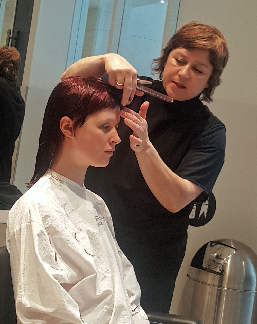 - This is Danielle.I love this woman! She has this way that makes you feel immediately comfortable. The way she explains and executes her haircuts always have great humour attached. I took home many techniques she presented. One of the Greats.