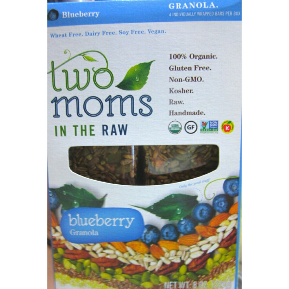 Two Moms in the Raw Blueberry Granola Bar
