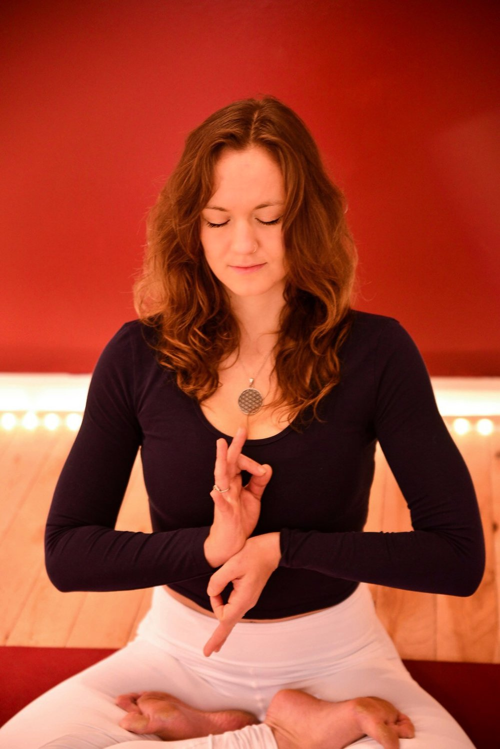 Align Divine Alchemy Flow: Carla Samson - Description: Align Divine Alchemy is the process of transmuting matter into it's highest form; it is the shift in consciousness from the physical to the spiritual. In this guided flow class, Shamanic and yogic techniques will be used, along with breath and movement - all to merge the Spirit with Earth. We will combine asana, mudra, and primal wild movements to shift our story, and come into alignment with our Divine Playfulness.About: Carla invokes the Divine and infuses the sacred into each one of her creative flowing classes. She is the