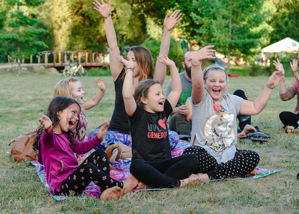 Kids Kirtan with Madhavi Mai - Description: Deep immersion in ecstatic music and dance, combining the healing vibrational practices of devotional singing and dancing.